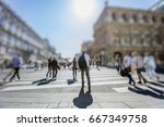 crowd of anonymous people... | Shutterstock . vector #667349758