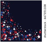 4th of july square vector... | Shutterstock .eps vector #667351108