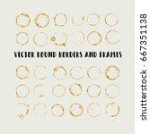 round paint brush strokes ... | Shutterstock .eps vector #667351138