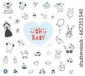 Set Of Baby Shower Design...