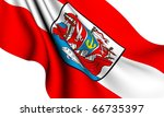 Flag of Bremerhaven city, Germany against white background. - stock photo