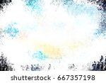 brushed painted abstract... | Shutterstock . vector #667357198