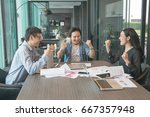 asia business group meeting... | Shutterstock . vector #667357948