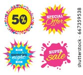 sale splash banner  special... | Shutterstock . vector #667359538