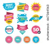 sale banners  online web... | Shutterstock . vector #667364563