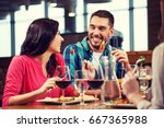 leisure  people  eating and... | Shutterstock . vector #667365988