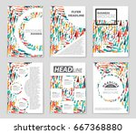 abstract vector layout... | Shutterstock .eps vector #667368880
