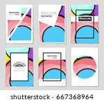 abstract vector layout... | Shutterstock .eps vector #667368964