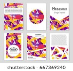 abstract vector layout... | Shutterstock .eps vector #667369240