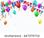 colorful balloons  vector... | Shutterstock .eps vector #667370710