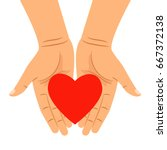 heart in hands isolated on... | Shutterstock .eps vector #667372138