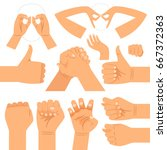 funny hand glasses shape ... | Shutterstock .eps vector #667372363