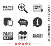 back to school sale icons.... | Shutterstock . vector #667372564