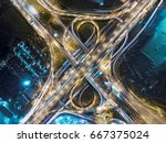road traffic in city at... | Shutterstock . vector #667375024