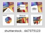 abstract vector layout... | Shutterstock .eps vector #667375123