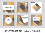 abstract vector layout... | Shutterstock .eps vector #667375186