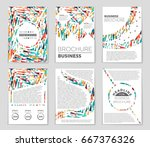 abstract vector layout... | Shutterstock .eps vector #667376326