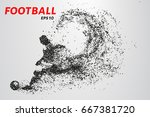 football of the particles.... | Shutterstock .eps vector #667381720