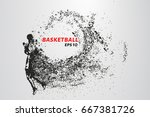 basketball of the particles.... | Shutterstock .eps vector #667381726