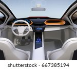 autonomous car interior concept.... | Shutterstock . vector #667385194
