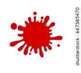 red spot | Shutterstock .eps vector #667385470