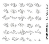 Isometric Capital Letters Of...