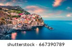second city of the cique terre... | Shutterstock . vector #667390789