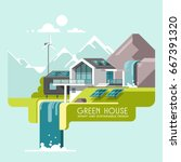 green energy and eco friendly... | Shutterstock .eps vector #667391320