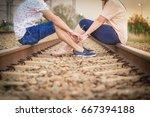 girlfriend and boyfriend couple ... | Shutterstock . vector #667394188