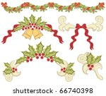 vector christmas elements with... | Shutterstock .eps vector #66740398