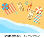 beach  seashore with waves.... | Shutterstock .eps vector #667404910