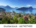 Brienz Town On Lake Brienz By...