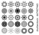geometric star shapes... | Shutterstock .eps vector #667407460