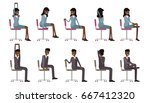 office chair yoga. corporate... | Shutterstock .eps vector #667412320