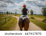 Polo Horse Riding Woman On...