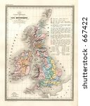 Antique Geological Map Of...