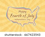 happy fourth of july. greeting... | Shutterstock .eps vector #667423543
