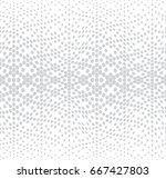 hexagon halftone gradient... | Shutterstock .eps vector #667427803
