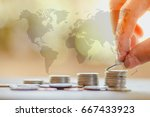 save money and investment... | Shutterstock . vector #667433923