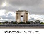 main basin of peyrou in... | Shutterstock . vector #667436794
