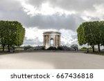 parc promenade du peyrou with... | Shutterstock . vector #667436818