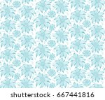 seamless floral pattern. on a... | Shutterstock .eps vector #667441816