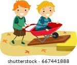 illustration of stickman kids... | Shutterstock .eps vector #667441888