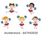 illustration of stickman kids... | Shutterstock .eps vector #667442020