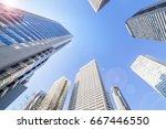 high rise building group | Shutterstock . vector #667446550