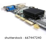 Small photo of Accelerated Graphics Port Video Card with passive cooling.