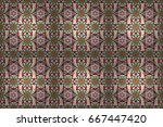 floral seamless pattern with...   Shutterstock . vector #667447420