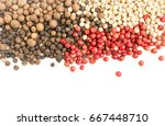 pepper seeds or pepper corns... | Shutterstock . vector #667448710
