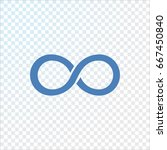 infinity icon vector. | Shutterstock .eps vector #667450840