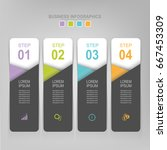 infographic template of four...   Shutterstock .eps vector #667453309